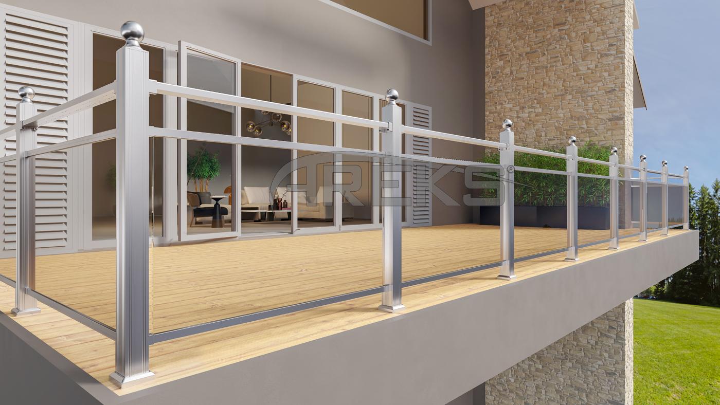 Aluminum Square Handrail