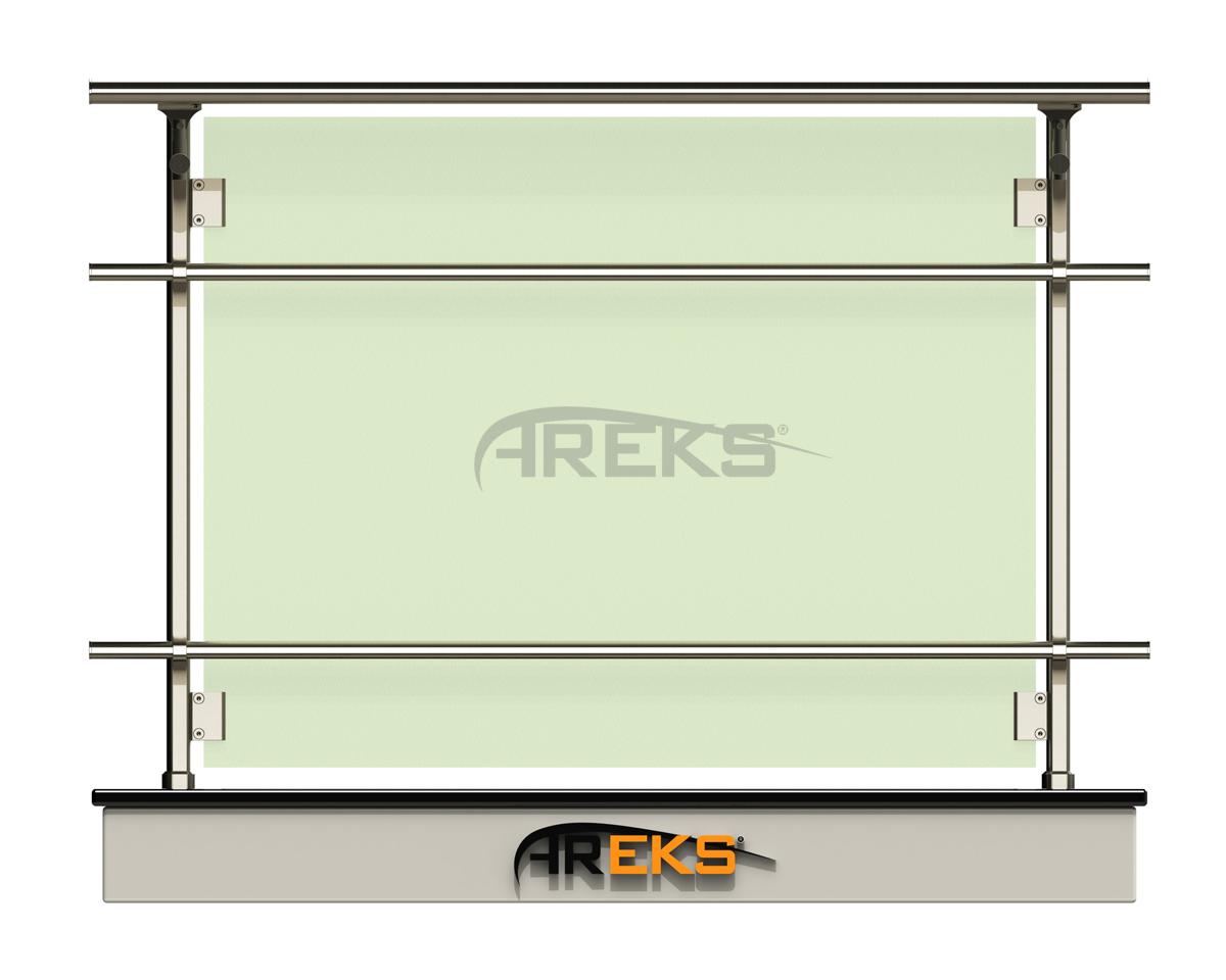 ELİPS KORKULUK UYGULAMA aluminium railing Aluminium glass railing Aluminium fence