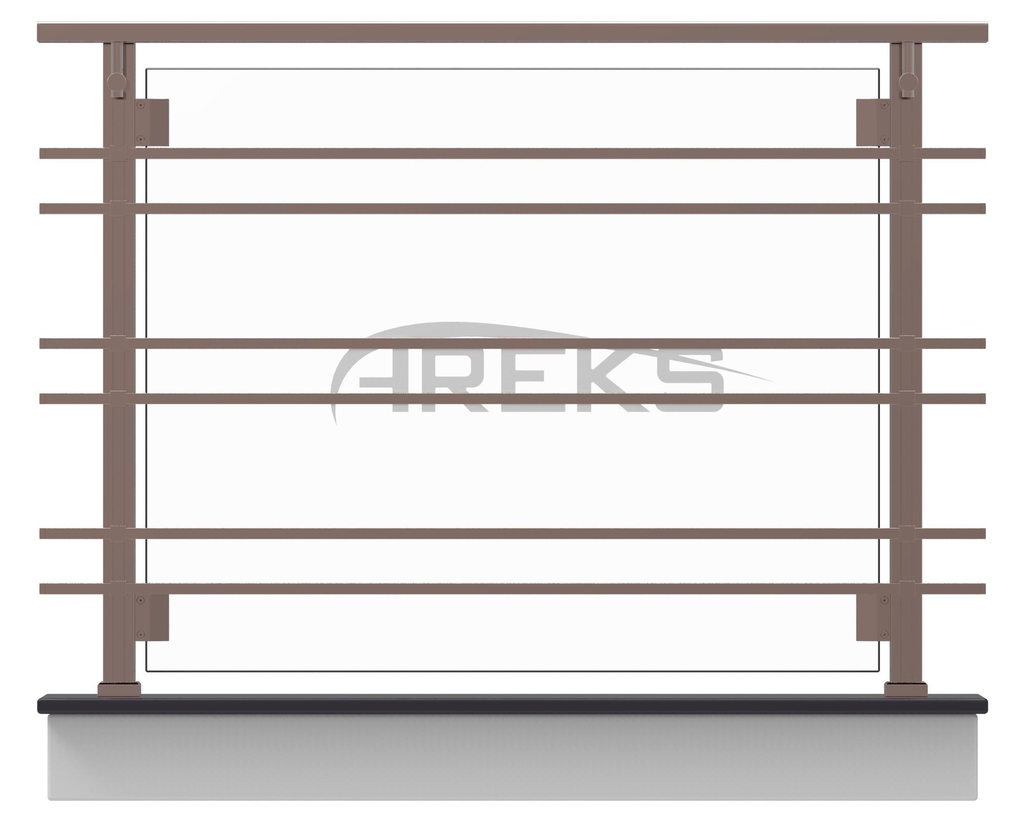 KARE KORKULUK UYGULAMA aluminium railing Aluminium glass railing Aluminium fence