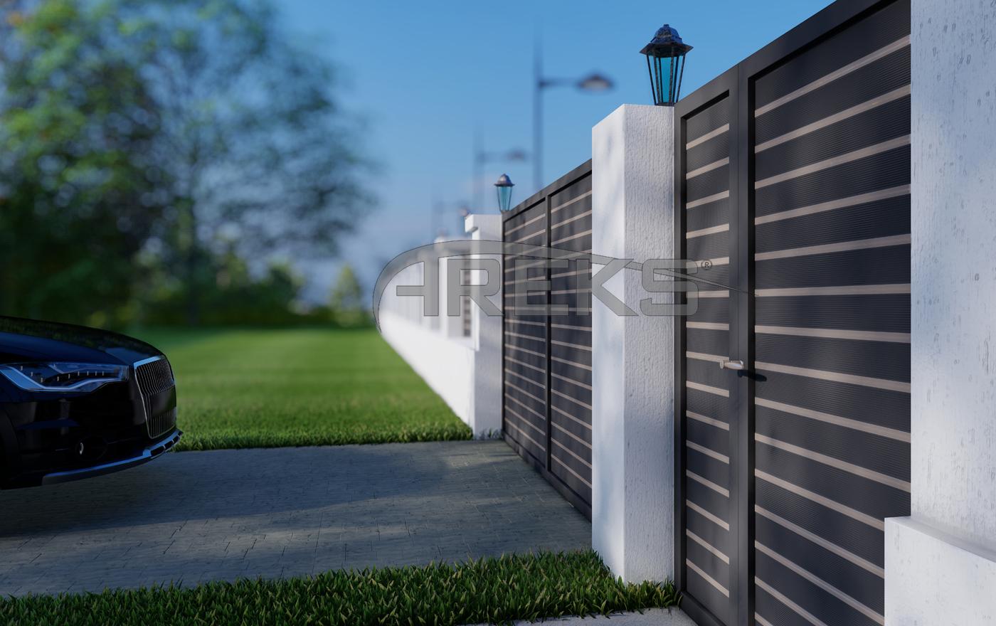 ALUMİNYUM BAHÇE ÇİT UYGULAMA aluminium railing Aluminium glass railing Aluminium fence
