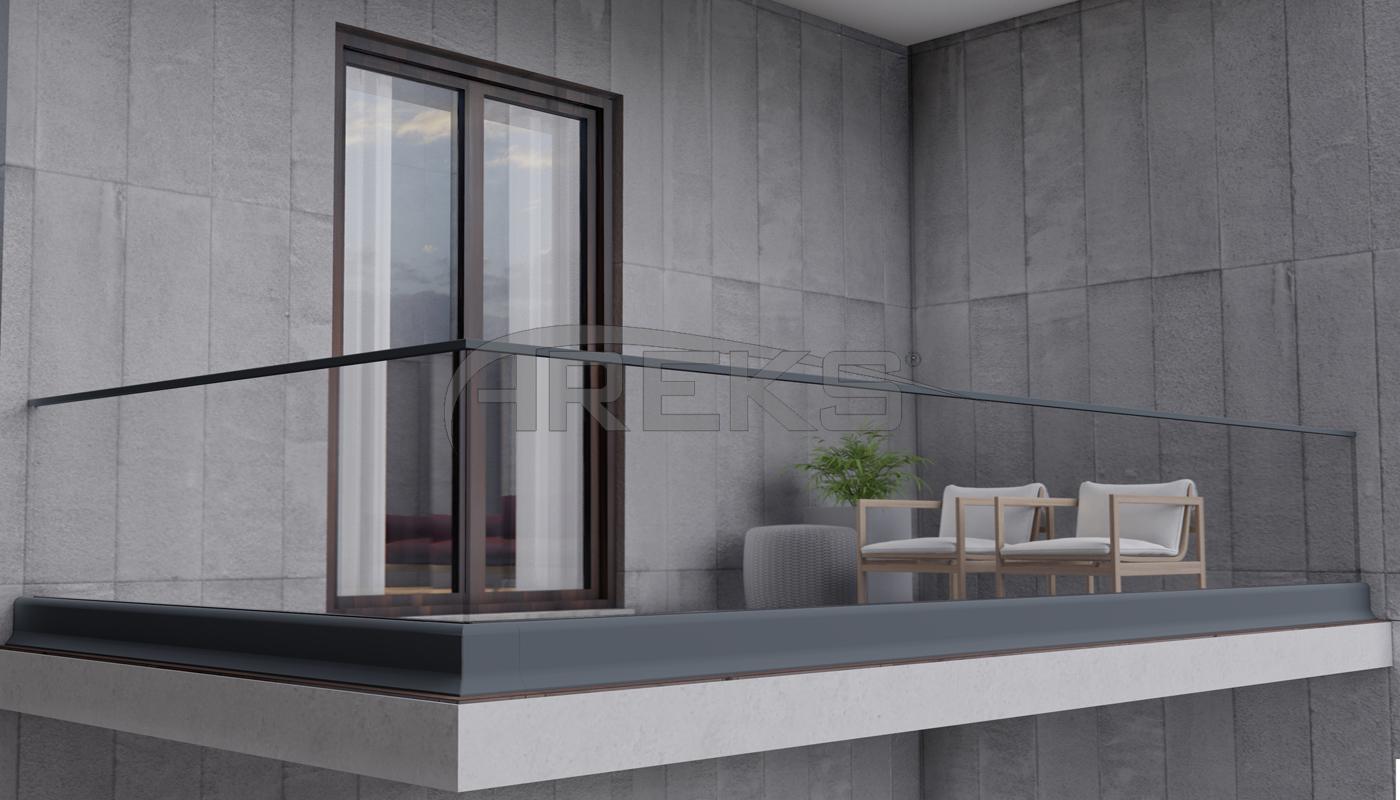 CAM KANAL SİSTEM UYGULAMA aluminium railing Aluminium glass railing Aluminium fence