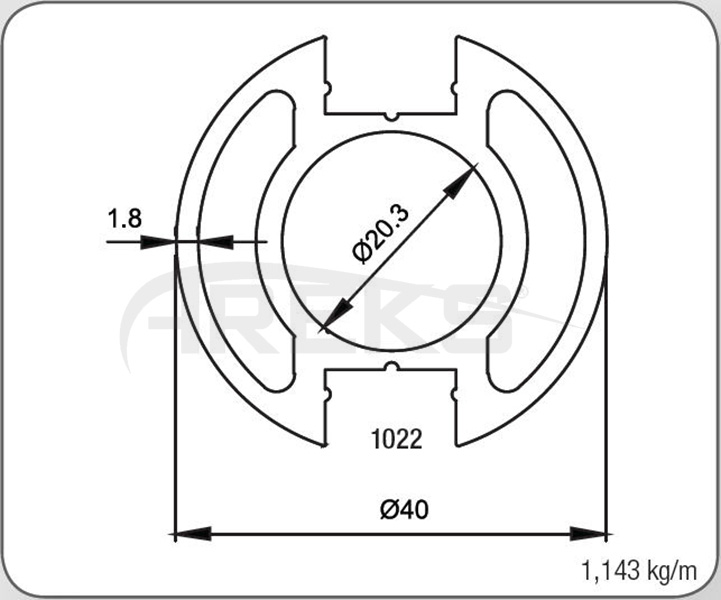 40LIK_CIFT_KANAL_DIKME_PROFILI_1_8_MM Aluminium railing Aluminium fence Aluminium glass railing