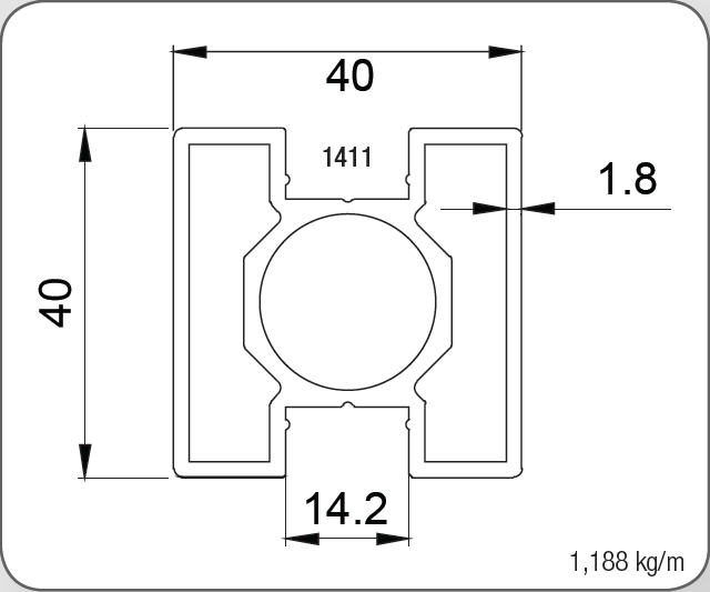 40X40 KARE DİKME PROFİLİ 1,8 MM