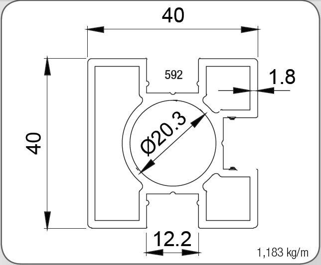40X40 KARE DİKME PROFİLİ  1.8 MM
