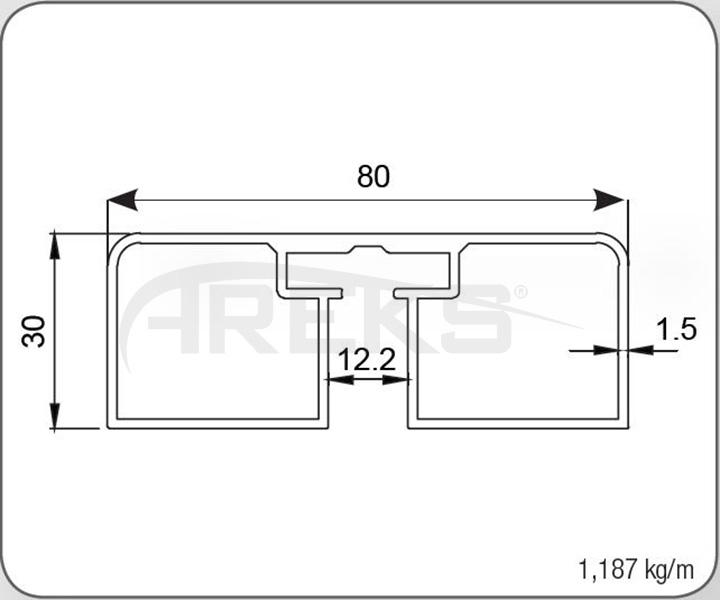 30X80_KARE_PROFIL Aluminium railing Aluminium fence Aluminium glass railing