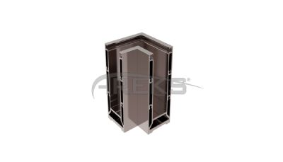 AC11_03_90_Derece_Donus Aluminium railing Aluminium fence Aluminium glass railing