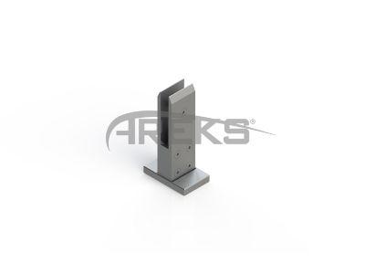 Kare_Lama_Cam_Tasiyici_12mm Aluminium railing Aluminium fence Aluminium glass railing