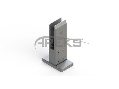 Kare_Lama_Cam_Tasiyici_16mm Aluminium railing Aluminium fence Aluminium glass railing