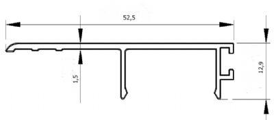 Zemin Altı Cam Kanalı Profil Kapağı (0,306 kg/m)
