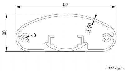 30x80 Elips Profil