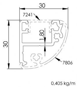 30x30 Elips Profil