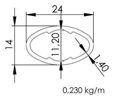 14X24 Elips Profil