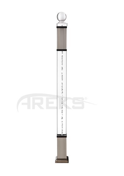 70X70_Pleksi_Kare_Baba_Takimi Aluminium railing Aluminium fence Aluminium glass railing