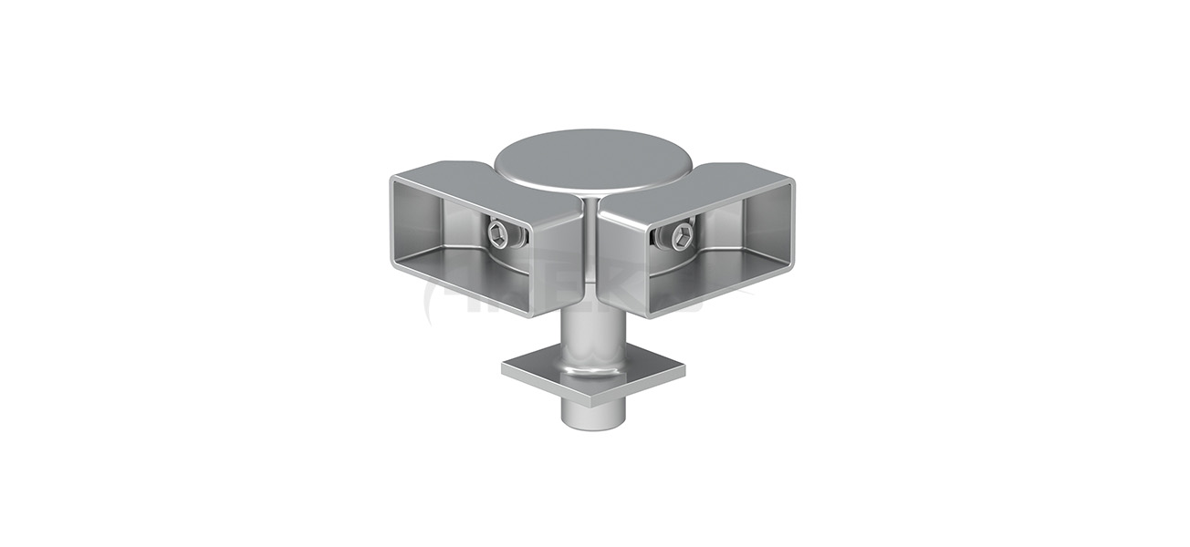 25x60_Mafsalli_90_Derece_Hareketli_Donus_Takimi Aluminium railing Aluminium fence Aluminium glass railing