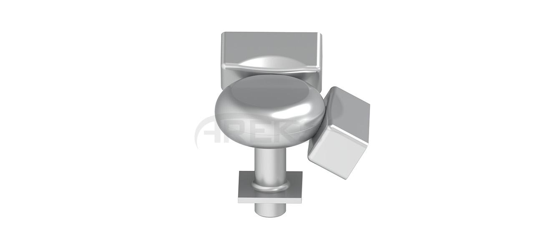 25x60_Mafsalli_Cok_Acili_Donus_Takimi Aluminium railing Aluminium fence Aluminium glass railing