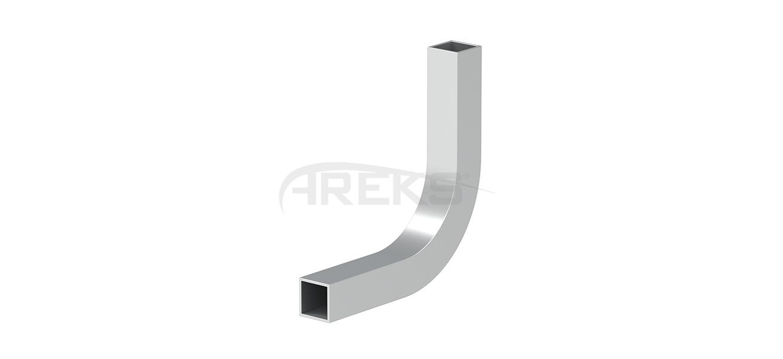 14x14_Kare_Bos_90_Derece_Dirsek Aluminium railing Aluminium fence Aluminium glass railing