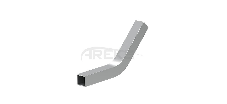 14x14_Kare_Bos_135_Derece_Dirsek Aluminium railing Aluminium fence Aluminium glass railing