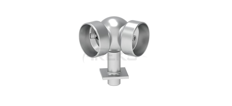 40X40_Kare_Dikme_50lik_Boru_Hareketli_Kure_Dirsek Aluminium railing Aluminium fence Aluminium glass railing