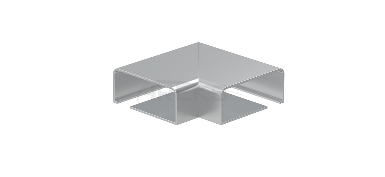 25x60_90_Derece_Yandan_Cam_Kanalli_Donus Aluminium railing Aluminium fence Aluminium glass railing