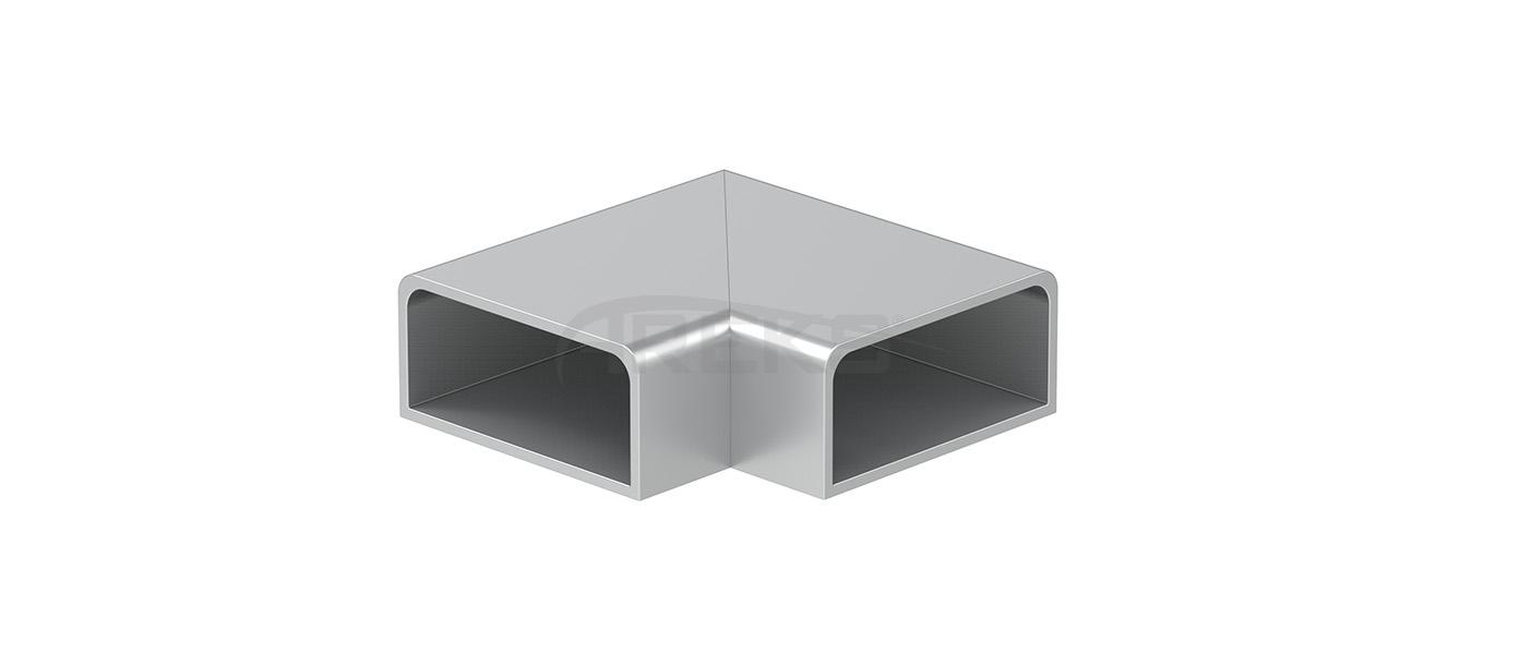 25X60_90_Derece_Donus Aluminium railing Aluminium fence Aluminium glass railing