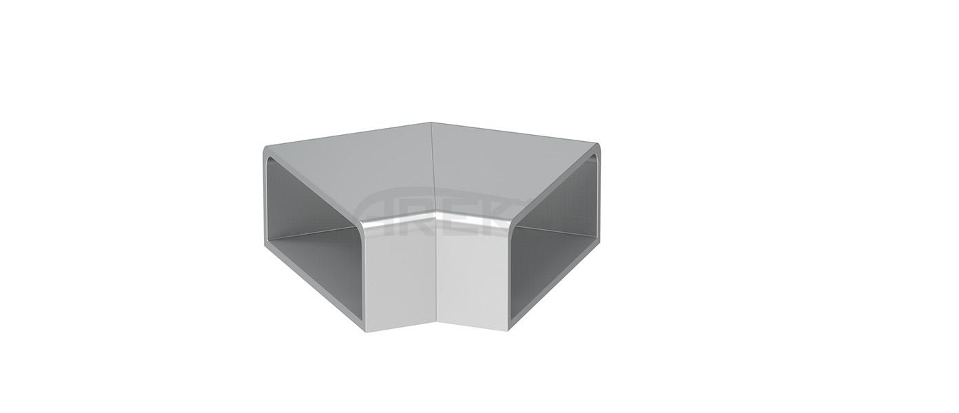 30X80_135_Derece_Donus Aluminium railing Aluminium fence Aluminium glass railing