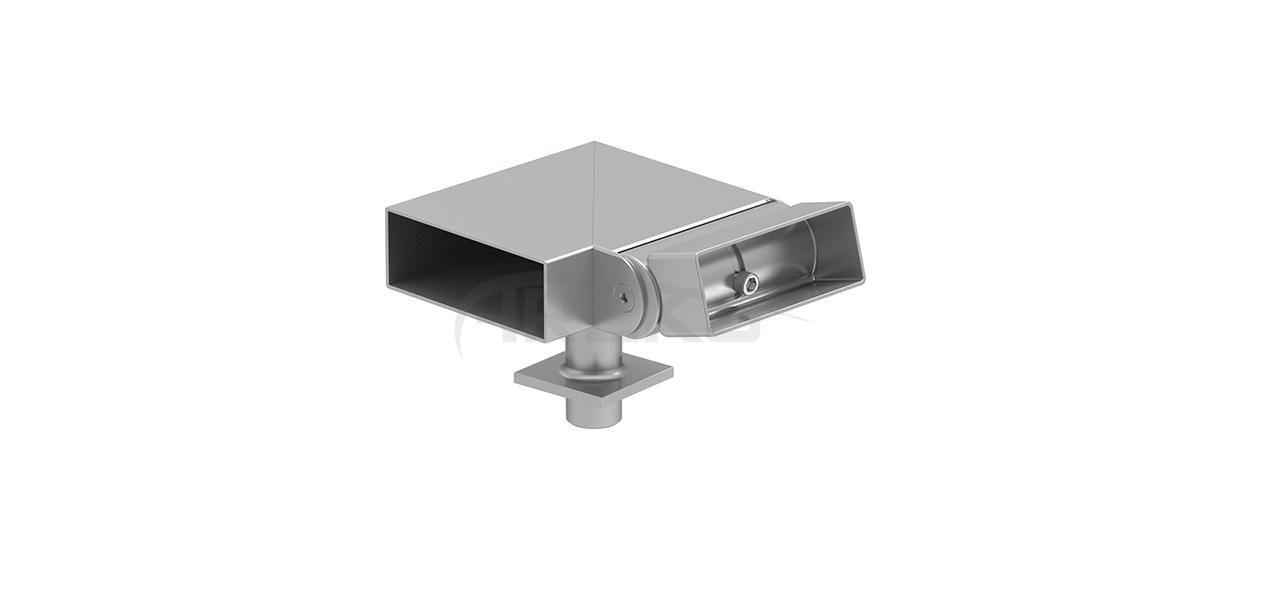 30x80_90_Derece_Mafsalli_Sag_Donus Aluminium railing Aluminium fence Aluminium glass railing