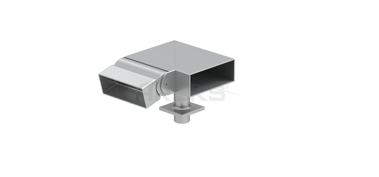 30x80_90_Derece_Mafsalli_Sol_Donus Aluminium railing Aluminium fence Aluminium glass railing