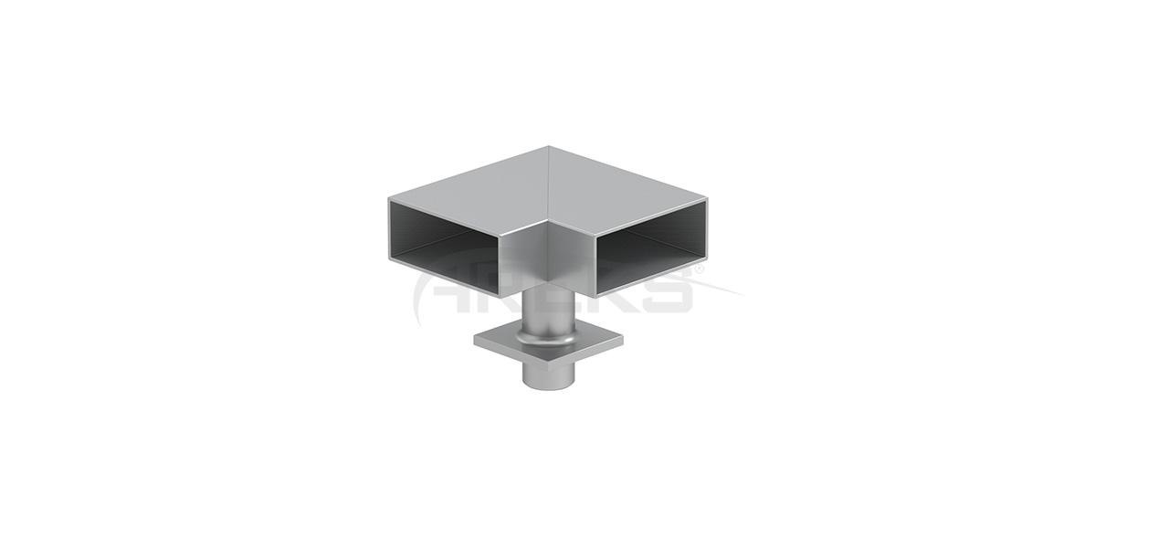 30x80_90_Derece_Mafsalli_Donus Aluminium railing Aluminium fence Aluminium glass railing