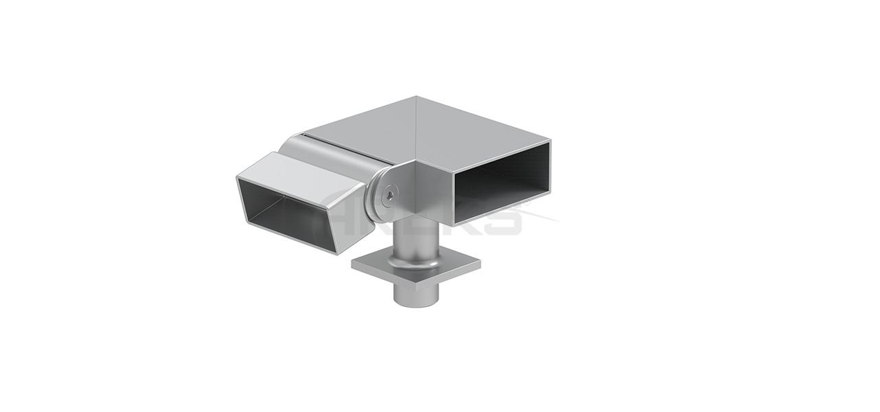 25x60_90_Derece_Mafsalli_Sol_Donus Aluminium railing Aluminium fence Aluminium glass railing