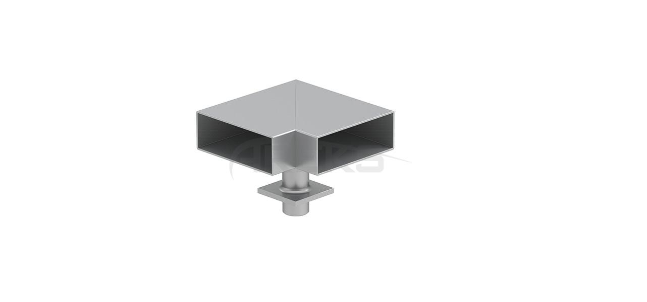 25x60_90_Derece_Mafsalli_Donus Aluminium railing Aluminium fence Aluminium glass railing