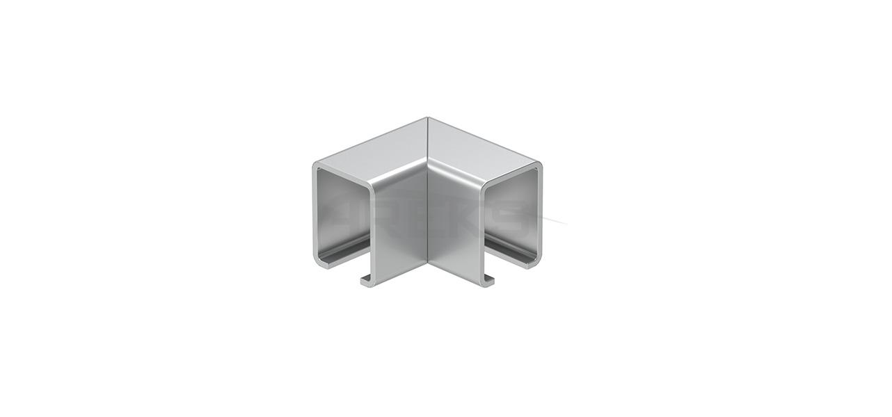 27x20_90_Derece_Kanalli_Donus Aluminium railing Aluminium fence Aluminium glass railing