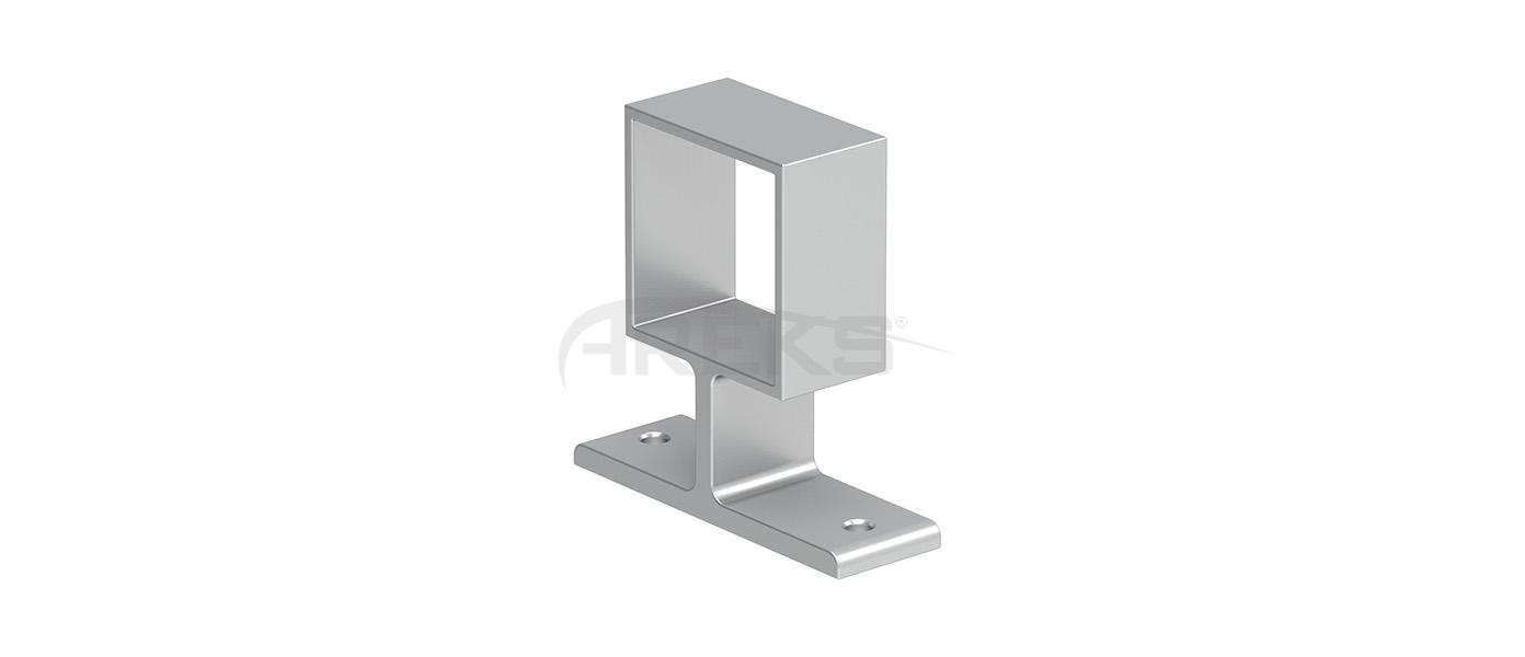 40x40_Kare_Dikme_Yandan_Baglanti_Takimi Aluminium railing Aluminium fence Aluminium glass railing