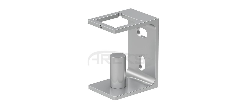 40X40_Kare_Dikme_Yandan_Ozel_Baglanti_Takimi_10_cm Aluminium railing Aluminium fence Aluminium glass railing