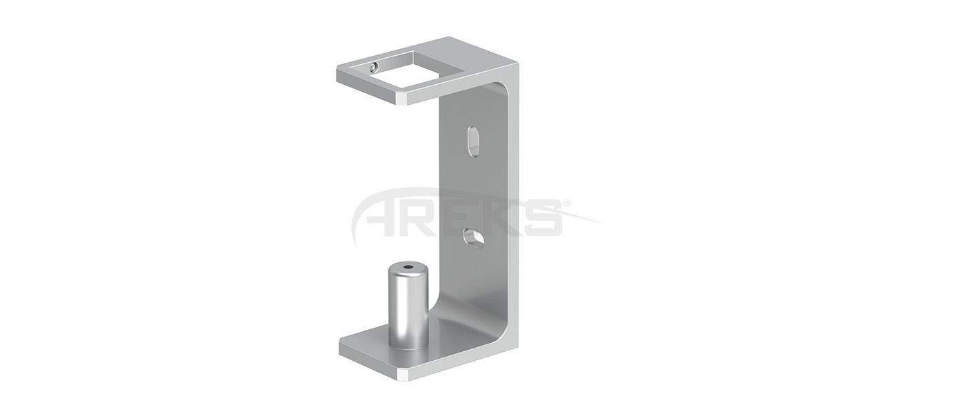 40X40_Kare_Dikme_Yandan_Baglanti_Takimi_15_cm Aluminium railing Aluminium fence Aluminium glass railing