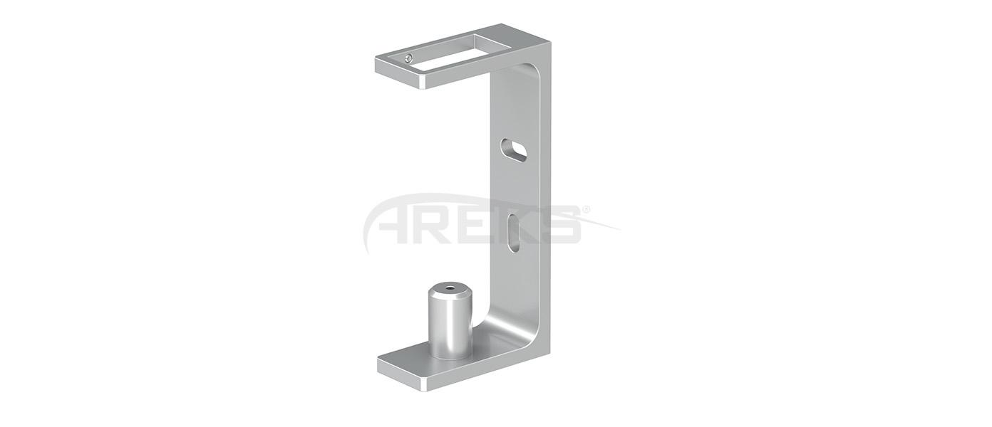 25X50_Dikme_Yandan_Baglanti_Takimi_15_cm Aluminium railing Aluminium fence Aluminium glass railing
