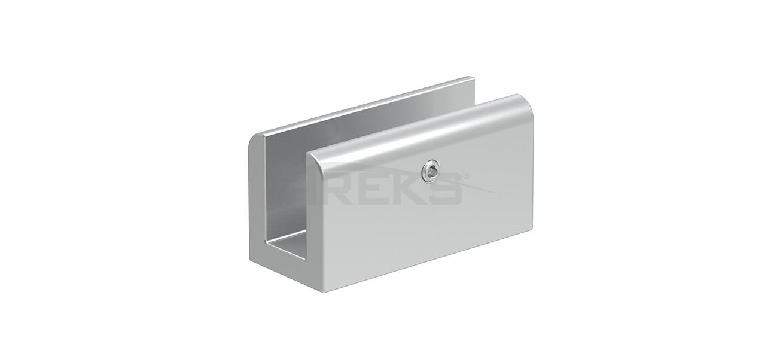 Kare_Dikme_Alyanli_Cam_Tutamagi Aluminium railing Aluminium fence Aluminium glass railing
