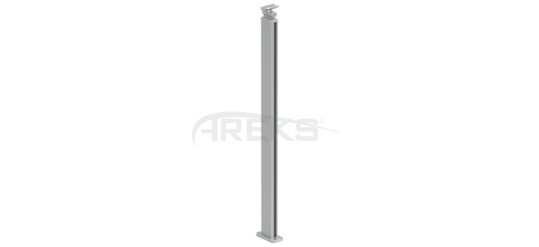 30x55_Kare_Dikme_Takimi_85_cm Aluminium railing Aluminium fence Aluminium glass railing