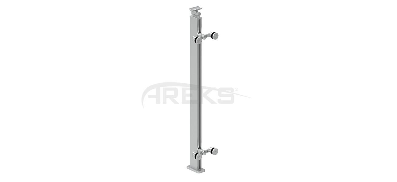 30x55_Kare_Spiderli_Dikme_Takimi_85_cm Aluminium railing Aluminium fence Aluminium glass railing