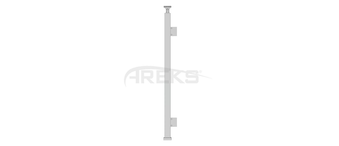 40X40_Kare_Dikme_Takimi_Tekli_Cam_Tutamakli_85_cm Aluminium railing Aluminium fence Aluminium glass railing
