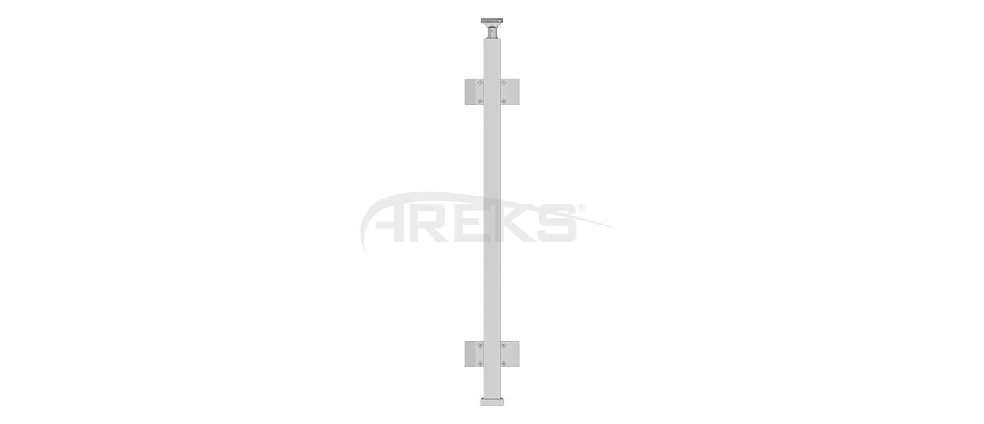 40X40_Kare_Dikme_Takimi_Ciftli_Cam_Tutamakli_85_cm Aluminium railing Aluminium fence Aluminium glass railing